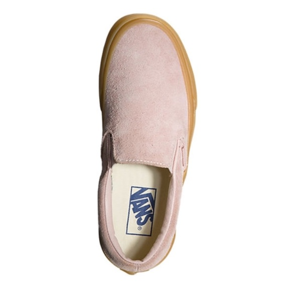 46ad9aa51a2b2b Vans Classic Slip Ons Fuzzy Suede Sepia Rose